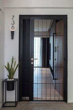 Main Entrance Door Design, Door Gate Design, Front Door Design, House Entrance, Door And Window Design, Home Window Grill Design, Grill Gate Design, Balcony Grill Design, Interior Design Singapore