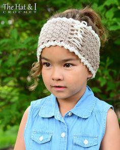 CROCHET PATTERN  Cottage Chic Head Wrap  crochet by TheHatandI