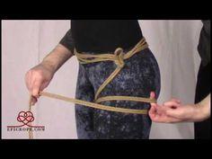 Beginner   Rope Bondage Tutorial: Basic Hishi (Diamond) Leg Tie - YouTube