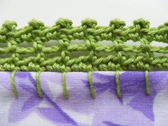 pillow cases edge crochet | Row - Edge the pillowcase using blanket 1cm down from the edge ...
