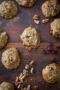 Whole-grain recipe for Cherry Berry Breakfast Cookie Recipe with Flax and Quinoa