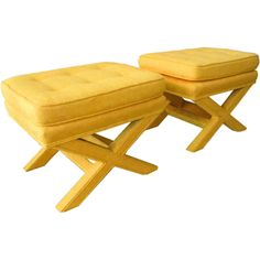 Yellow X Benches