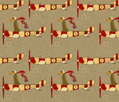 for Jack's room - flight_school_aircraft fabric by holli_zollinger on Spoonflower - custom fabric