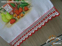 Barrado de Crochê Cereja - Receita de Croche com o Passo a Passo no Link http://www.aprendendocroche.com/receitas-de-croche/video-aula.asp?resid=1348&tree=13