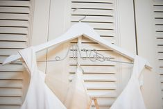 Bright & Beautiful Backyard Micro Wedding. For more small wedding ideas, visit burghbrides.com! #weddinghanger #bridalhanger #weddinginspiration Bridal Hangers, Wedding Hangers, Wedding Favors, Unique Gifts, Wedding Inspiration, Backyard, Bright, Beautiful, Wedding Keepsakes