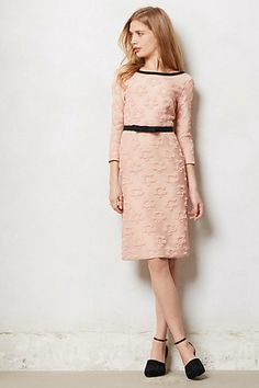Piped Marian Shift  #anthropologie