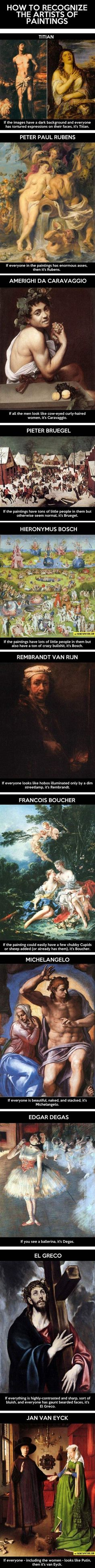 Art nerds will enjoy this one. The last one especially made me LOL.