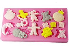 FOURC Fondant Cake Molds Baby Girl and Boy Cupcake Top Decorating Tools Color Pink >>> See this great product.(This is an Amazon affiliate link and I receive a commission for the sales)