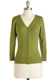 Charter School Cardigan in Sage. Show your style smarts in this versatile cardigan! #green #modcloth