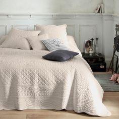 Plaid, jeté de lit ou couvre-lit boutis coton matelassé tertio® - Blanc- Vue 1