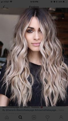 Balayage and ombre hair. Hair Color Ideas & Trends for - Long HairHairstyles hair ideas. Balayage and ombre hair. Hair Color Ideas & Trends for Stylish and attractive. Perfect Hair Color, Hot Hair Colors, Ombre Hair Color, Hair Color Balayage, Cool Hair Color, Bayalage, Hair Styles With Color, Perfect Blonde, Wavy Hairstyles Tutorial