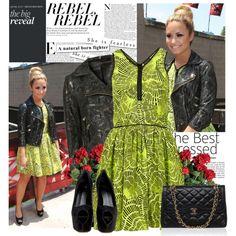 Rocking with Demi Lovato! by bklana on Polyvore featuring moda, Topshop, Giuseppe Zanotti, demi lovato and bklana