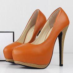 Patent Thin Heel Pumps