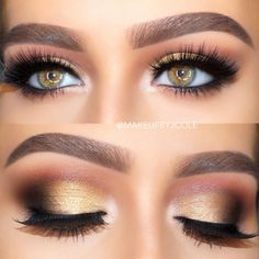 Gorgeous Makeup: Tips and Tricks With Eye Makeup and Eyeshadow – Makeup Design Ideas Makeup Looks For Green Eyes, Cool Makeup Looks, Beautiful Eye Makeup, Makeup For Big Eyes, Eyeshadow Looks, Eyeshadow Makeup, Eyeliner, Makeup Brushes, Brows