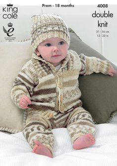 Babies Knitted Outdoor Set - King Cole