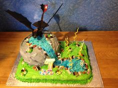 Toothless - How to Train Your Dragon Cake
