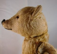 Antique Old Cone Nose Steiff Golden Mohair Teddy Bear Old Teddy Bears, Steiff Teddy Bear, Antique Teddy Bears, Teddy Bear Toys, Antique Toys, Vintage Toys, Dont Feed The Bears, We Bear, Bear Doll