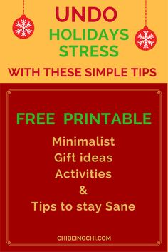 Grab these 3 uber useful EBooklets which have been tried and tested by our group members at: http://eepurl.com/clK9nj: 1. Beginner's Guide to Minimalism with printable tips & guides 2. 30-days Minimalist Challenge. Practice at your own pace with daily guide and tips-only 30 minutes each day 3. 7 full days of Holidays tips & guide on How to say Sane during the Holidays. Grab all three E-Booklets and get your support here <3