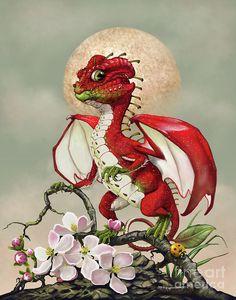Apple Dragon by Stanley Morrison