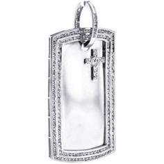 Mens Diamond Dog Tag ID Pendant 10K White Gold 3.03 ct http://www.24diamonds.com/mens-diamond-dog-tag-id-pendant-10k-white-gold-3-03-ct_30049.html