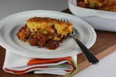 Chili Corn Dog Pie - A very quick and easy kid friendly dinner idea.