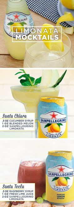 The refreshing flavor of Sanpellegrino® Limonata is a sparkling way to… Party Drinks, Cocktail Drinks, Fun Drinks, Cocktail Recipes, Mixed Drinks, Summer Drink Recipes, Summer Drinks, Non Alcoholic Drinks, Refreshing Drinks