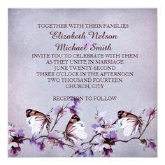 Lavender Butterfly Dream Wedding Invite