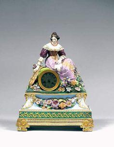 porcelaine XIXeme dorure couleur pendule signature marque jp | Authenticité