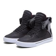SUPRA KONDOR | BLACK / WHITE / RED - WHITE | Official SUPRA Footwear Site