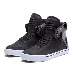 SUPRA KONDOR | BLACK / WHITE / RED - WHITE | Official SUPRA Footwear Site