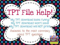 A VERY helpful and detailed blog post about common TpT download issues!