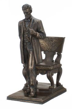 Abraham Lincoln President of the United States Museum Reproduction Collection Bronze Figurine