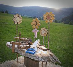 NikAntik: dřevěné květiny