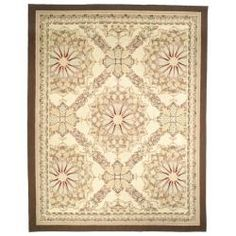 @Overstock - Hand-Knotted French Aubusson Ivory Wool Area Rug (9' x 12') - Add that special touch to your home decor with an exotic wool area rug from China. This hand-knotted Aubusson-style area rug features an ivory background and an ivory border and displays stunning panel colors of beige, red, pink and gold.  http://www.overstock.com/Worldstock-Fair-Trade/Hand-Knotted-French-Aubusson-Ivory-Wool-Area-Rug-9-x-12/5206562/product.html?CID=214117 $1,280.99