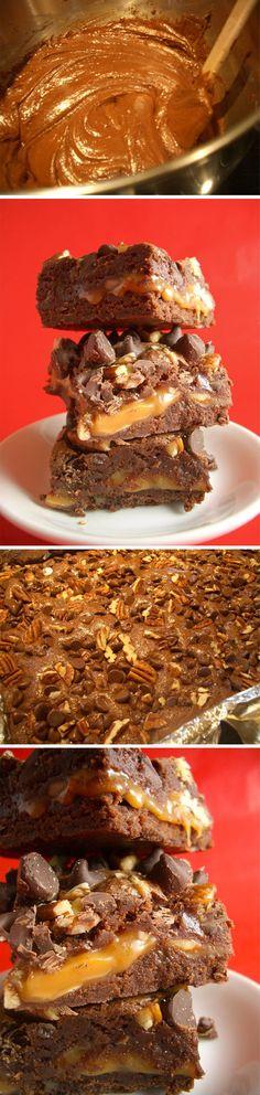 Brownie de con caramelo y nueces / http://goodiesbyanna.typepad.com/