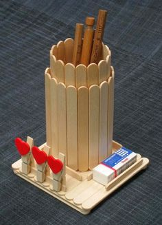 40 Creative Popsicle Stick Crafts For Kids,Popsicle sticks are one of those craft items which you can always find in your craft stash. They are so inexpensive, fun and provide endless options f. Popsicle Stick Crafts For Adults, Popsicle Stick Art, Popsicle Crafts, Craft Stick Crafts, Wood Crafts, Craft Ideas, Recycled Crafts, Diy Projects With Popsicle Sticks, Diy Wood