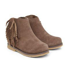 Mink Leather Tassle Boots