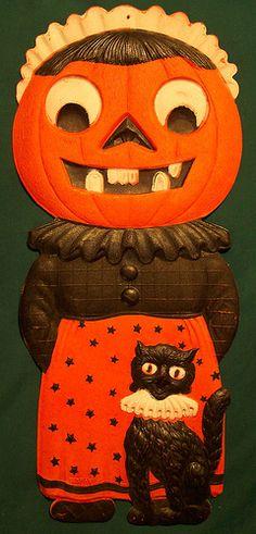 vintage german halloween diecut