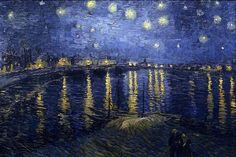 Starry night over rhone Van Gogh