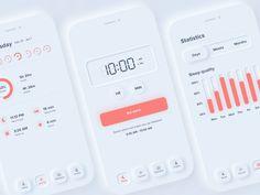 30 Cool Neumorphism UI Design Examples – Bashooka – Make Mobile Applications Mobile App Design, Mobile Ui, Mobile Code, Design Web, Flat Design, Design Layouts, Slide Design, Design Concepts, Design Ideas