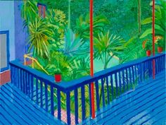 David Hockney: A bigger interior with terrace and garden, 2017 David Hockney Artwork, David Hockney Landscapes, David Hockney Prints, David Hockney Artist, David Hockney Photography, Painting Inspiration, Art Inspo, Pop Art Movement, Famous Art