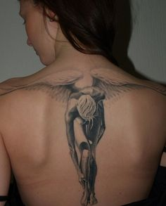 Elegant-Angel-tattoo - 60 Holy Angel Tattoo Designs  <3 <3