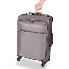 The World's Lightest Carry On - This is the world's lightest four-wheeled spinning carry-on, tipping the scales at a mere 4 pounds. The Flyweight of luggage, it weighs 66% less than most 20-inch bags. - Hammacher Schlemmer