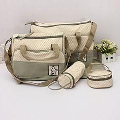 5pcs del bebé Cambio del pañal del bolso momia madre multifuncional bolso de mano