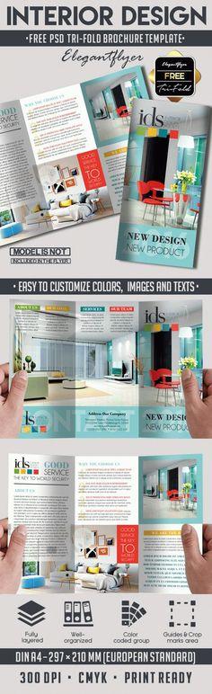 interior free psd tri fold psd brochure template