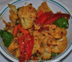 South Indian Cauliflower and Carrot Curry