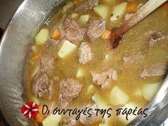 Υγιεινό φαγητό με πολλές βιταμίνες!! Greek Recipes, No Cook Meals, Cheeseburger Chowder, Beef, Cooking, Food, Meat, Kitchen, Essen