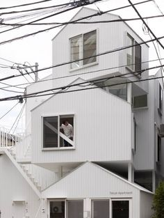 Tokyo Apartment by Sou Fujimoto Architects  			Posted by Dave on December 6th, 2012  			  				Sou Fujimoto Architects designed a building with four living units in Tokyo, Japan.