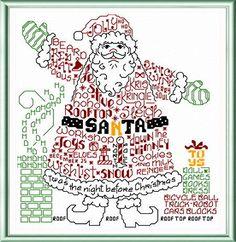Lets Find Santa cross stitch pattern designed by Ursula Michael.