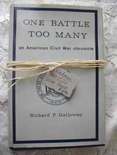Vintge Civil War Book by jjones1128 on Etsy, $8.00
